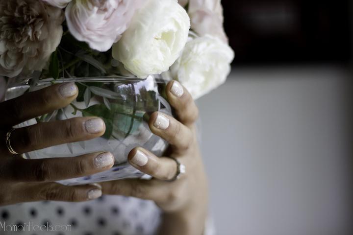 white glitter nails-1