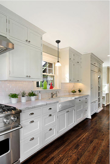 Galley White Kitchen