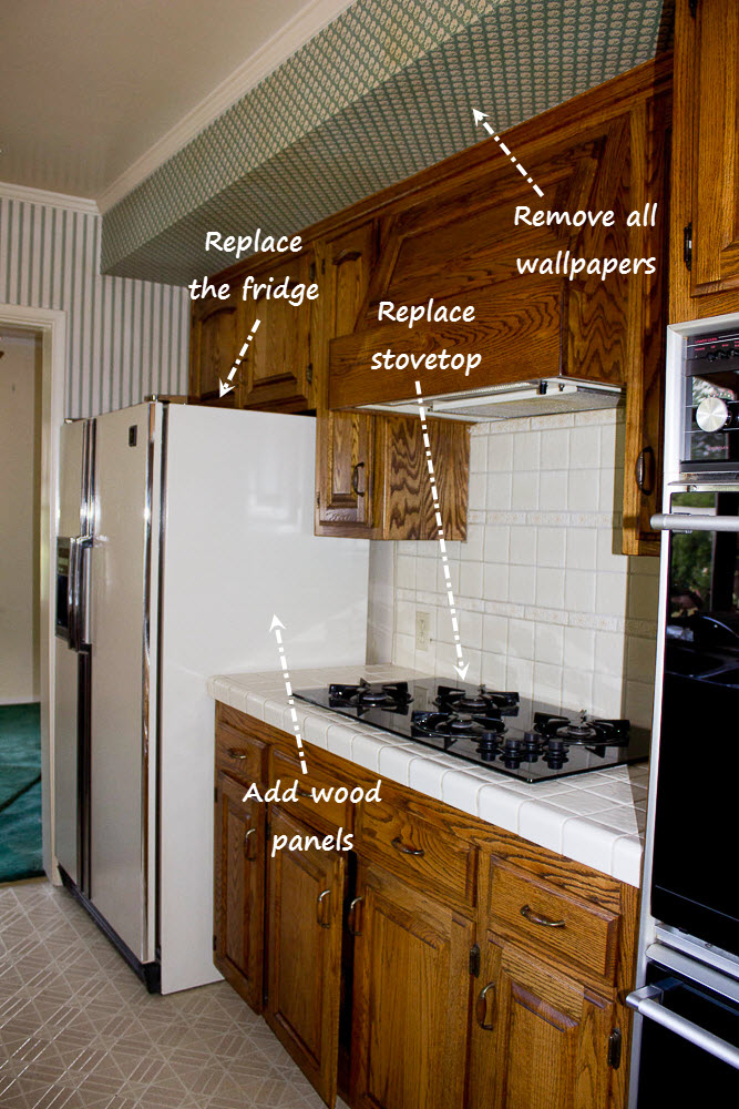 Kitchen Stove before