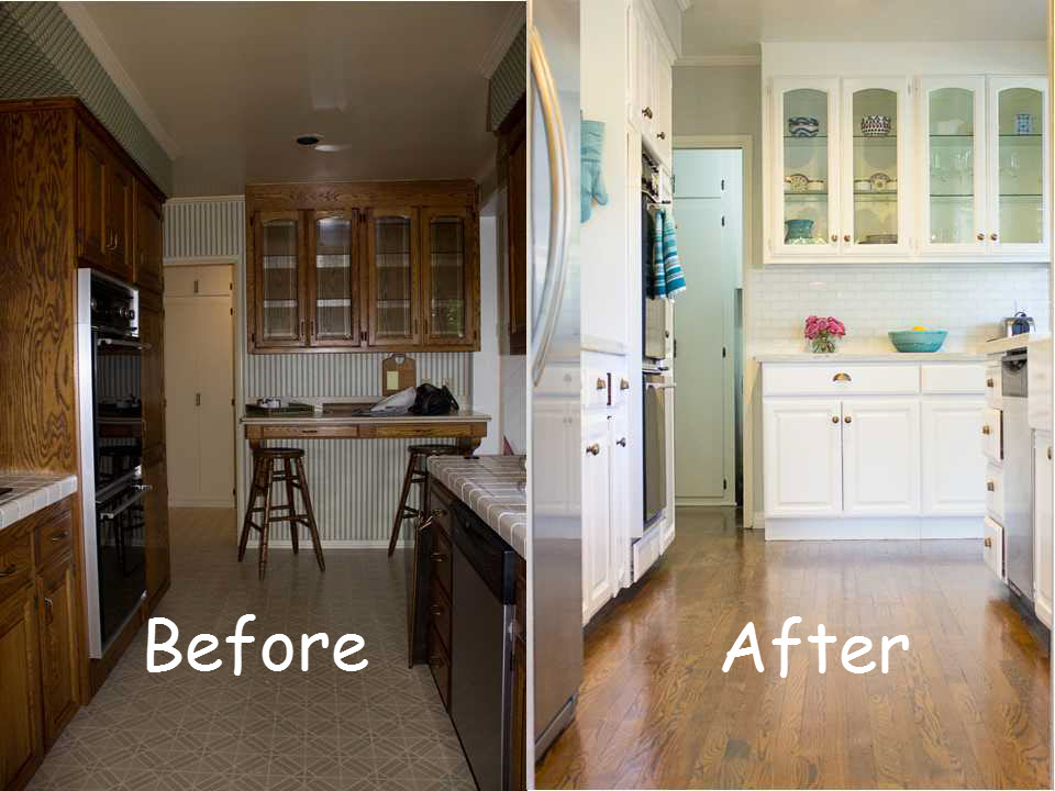 Before and after kitchen makeover for Kitchen remodel before after