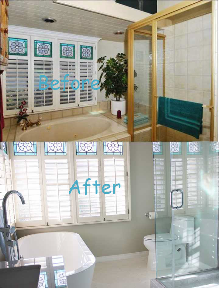 Before and After Mstr Bathroom 1