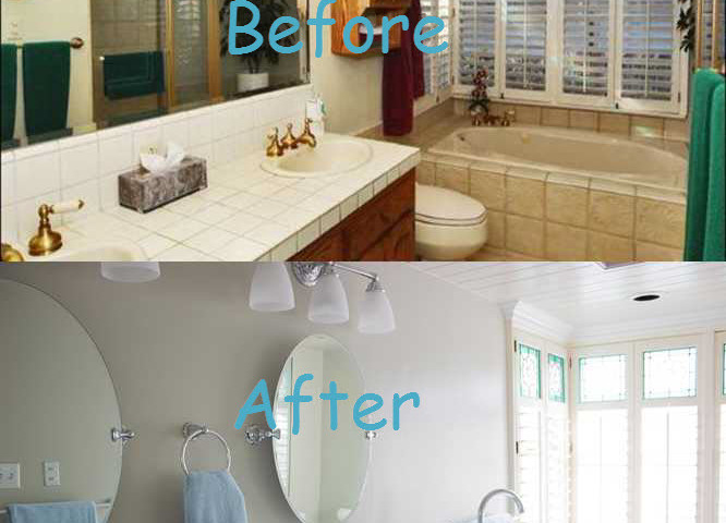 Before and After Mstr Bathroom 2