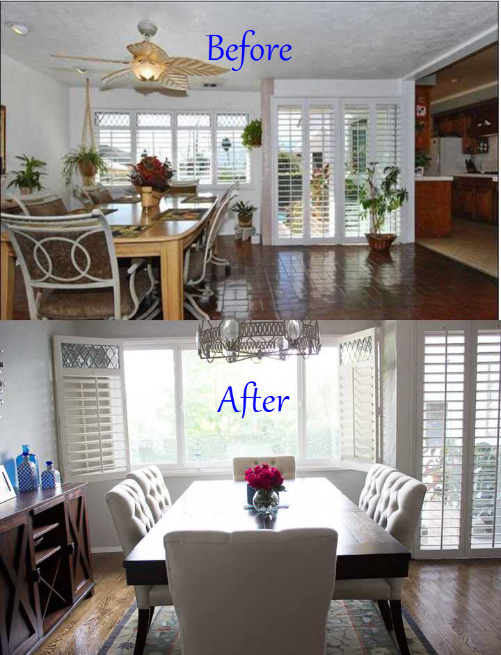 Superb Before And After Dining Room 2 Awesome Design
