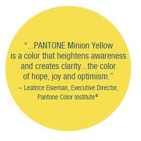 pantone minion yellow