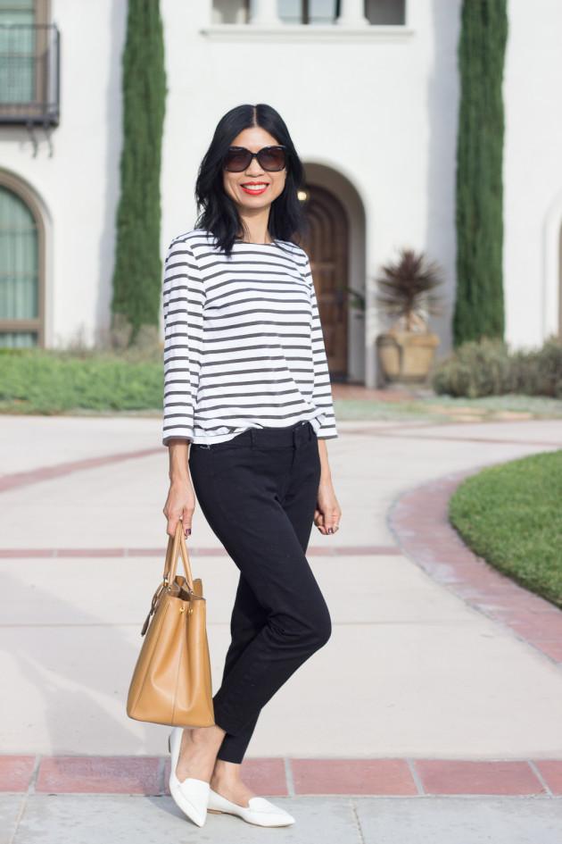 stripe top cropped pants-1-3
