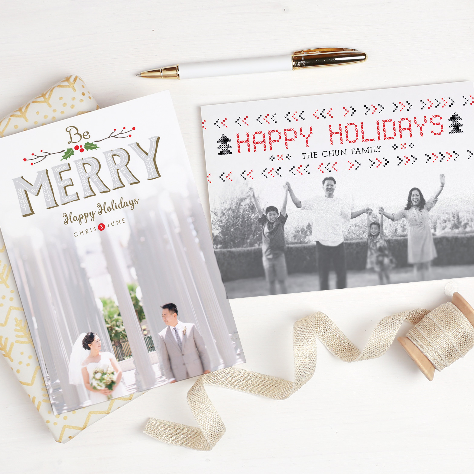 Christmas Cards with Basic Invite - Mama In Heels