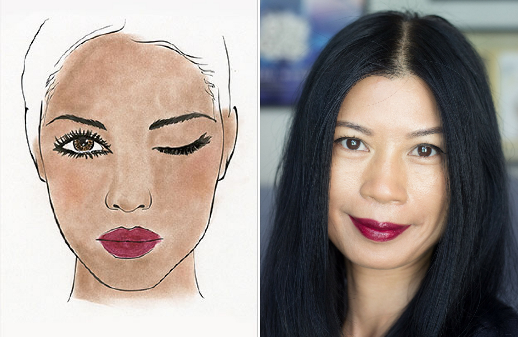 Avon X Project Runway Look – Wine Stained Lips