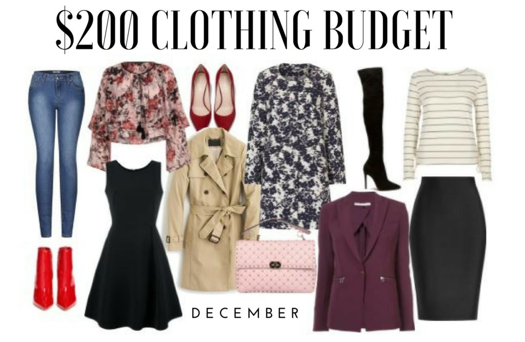$200 Clothing Budget: December