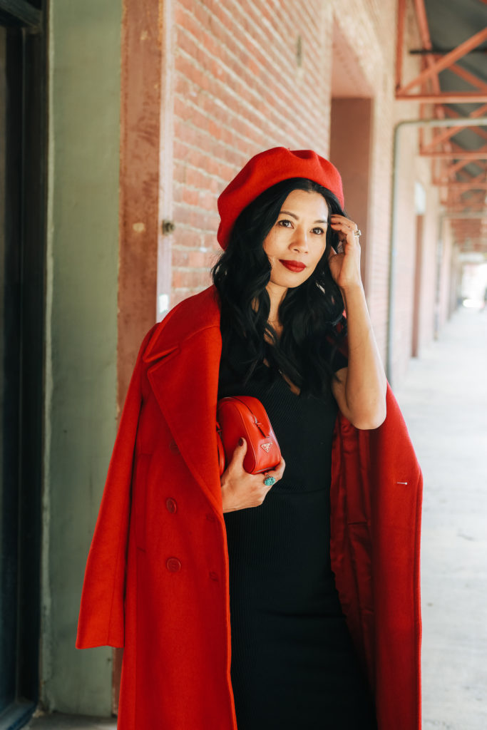 What To Wear With: Big Red Coat