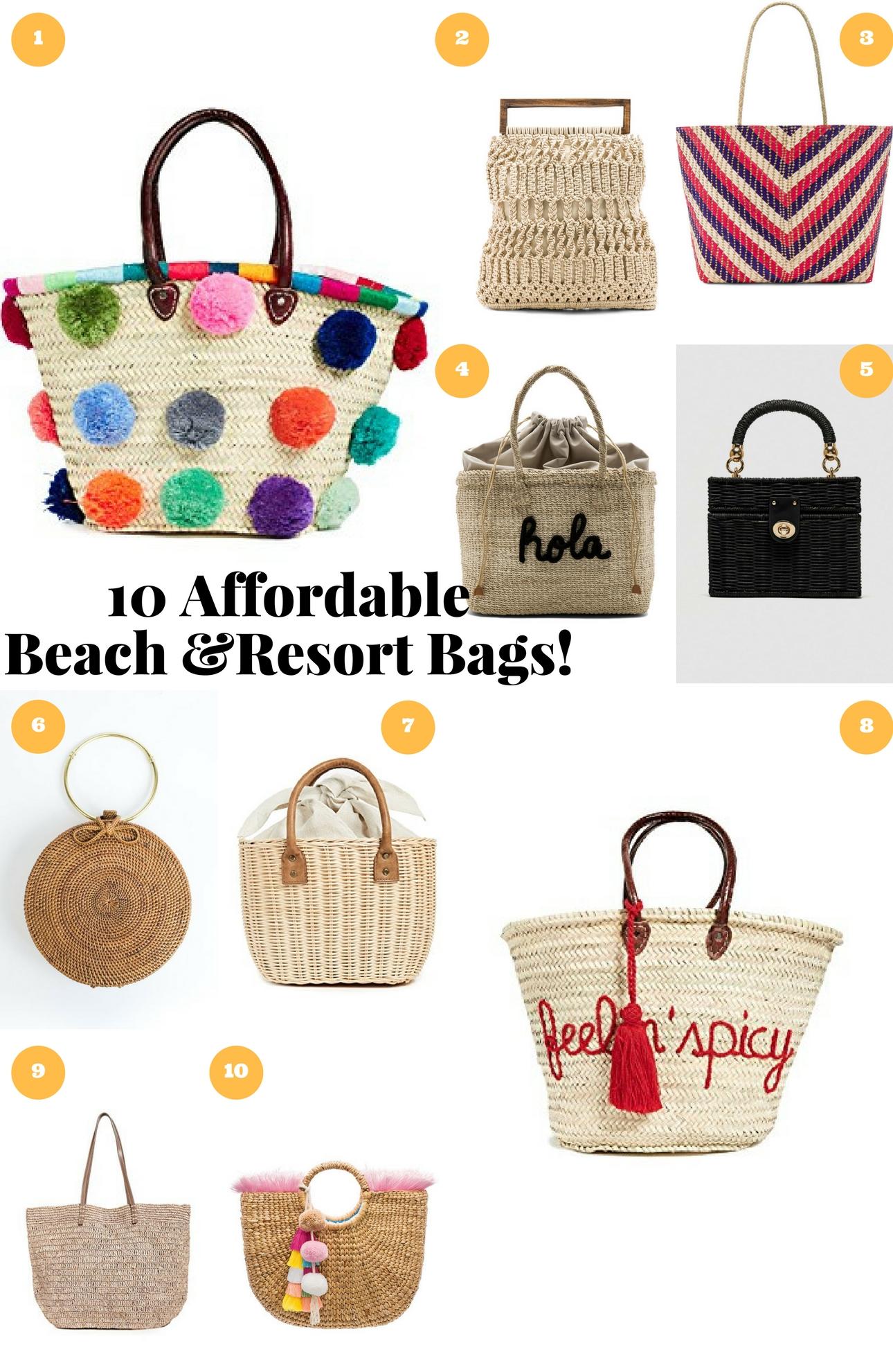 beach resort bags